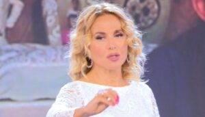 Barbara D'Urso in lacrime