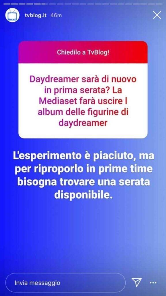 Daydreamer brutta notizia