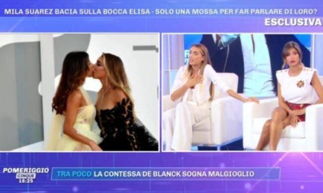 Elisa De Panicis e Mila Suarez dopo il bacio saffico la rivelazione: come stanno le cose realmente