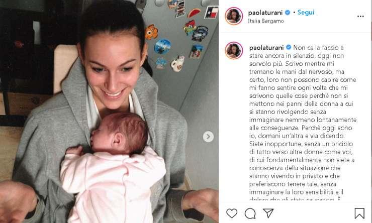 Paola Turani sfogo