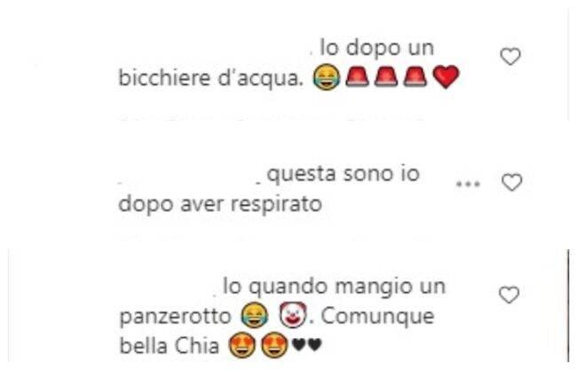 Chiara Ferragni commenti