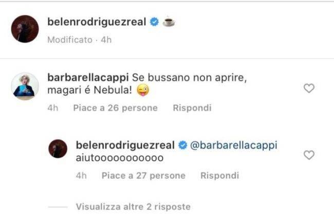Belen Rodriguez spaventata