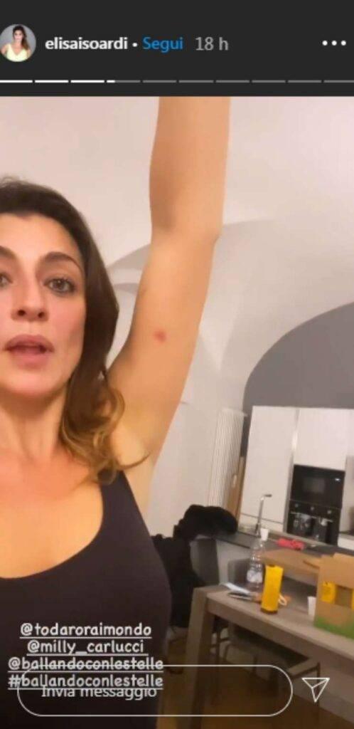 Elisa Isoardi incidente