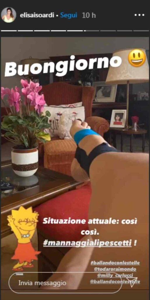 Elisa Isoardi imprevisto Ballando