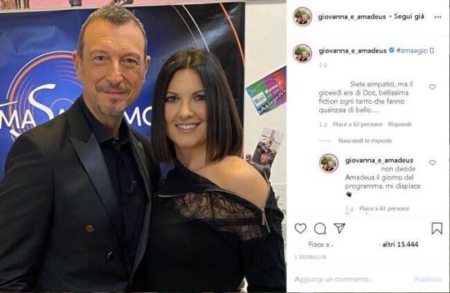 Amadeus Giovanna Civitillo attacco