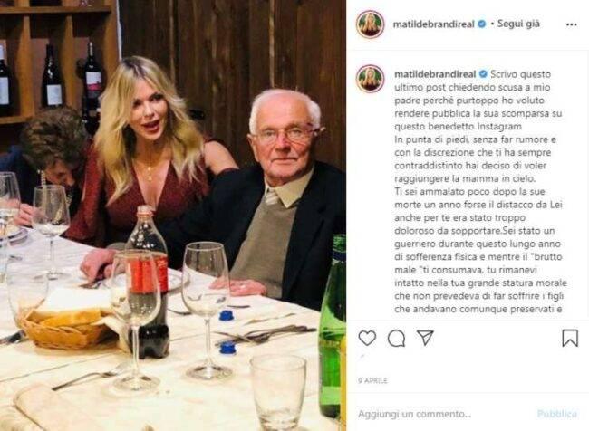 Matilde Brandi papà