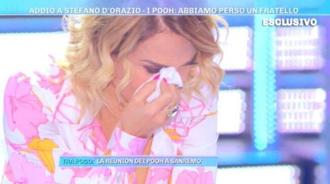 Barbara D'Urso lacrime racconto