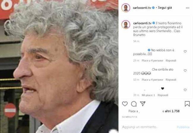 Brunetto Salvini Carlo Conti lutto