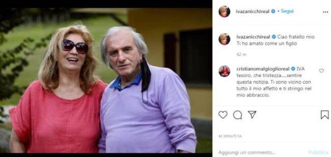 Iva Zanicchi lutto