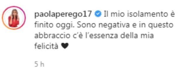 Paola Perego negativa