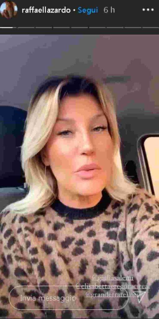 Raffaella Zardo scontro Gregoraci Salemi
