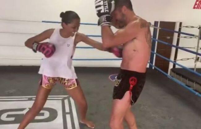 Juliana Moreira allenamento