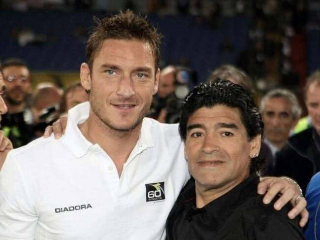 Francesco Totti, l'inedito retroscena con Maradona: quel gesto che nessuno conosceva