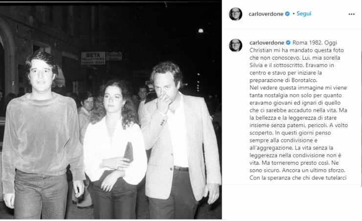 Carlo Verdone e Christian De Sica