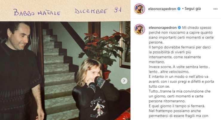 Eleonora Pedron straziata da due tragici lutti: il doloroso post da brividi ha commosso i follower