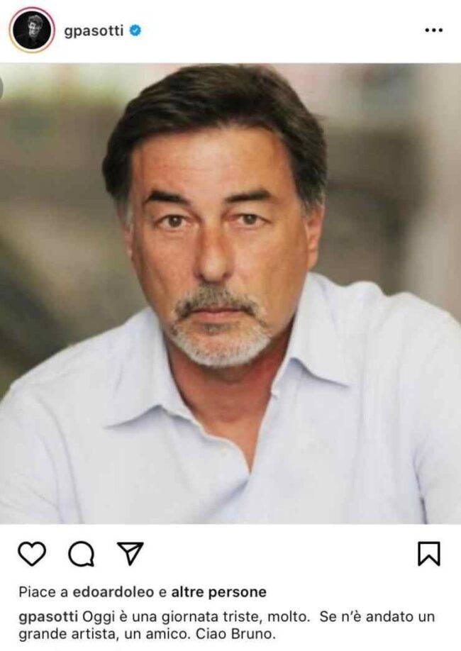 Giorgio Pasotti lutto