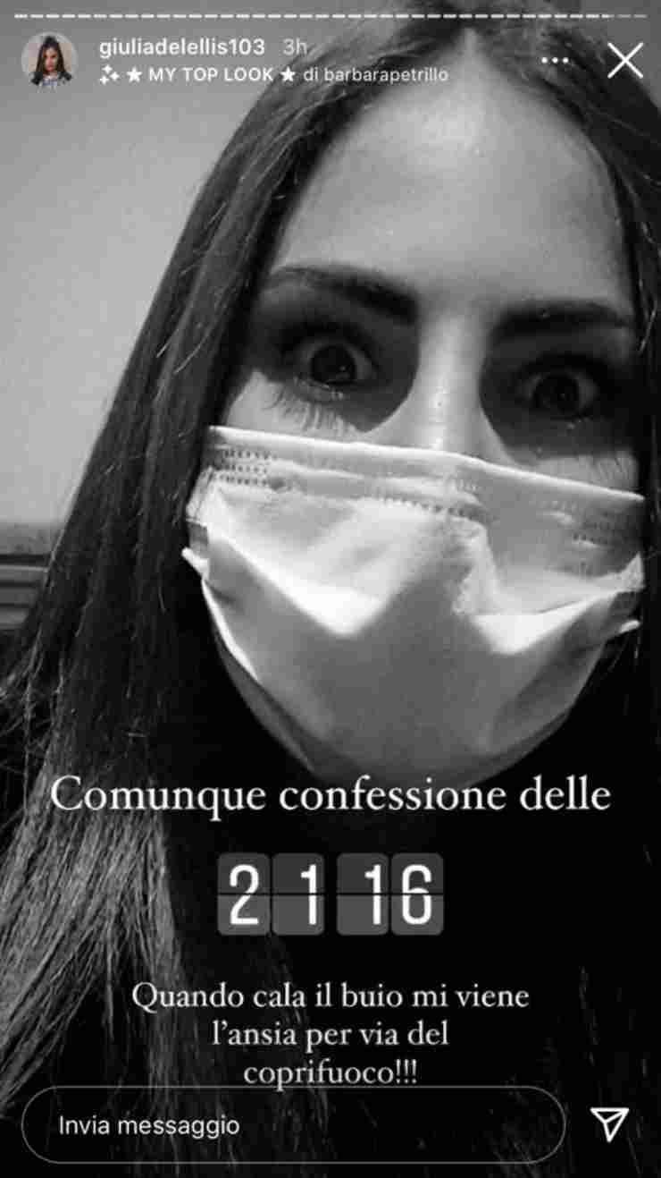 Giulia De Lellis confessione inedita