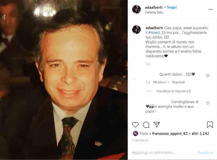 Ada Alberti lutto