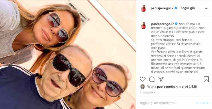 Paola Perego padre