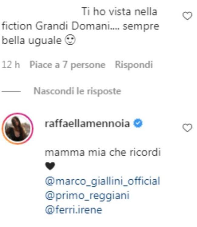 Raffaella Mennoia retroscena