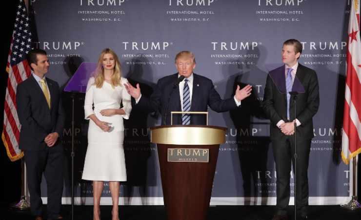 Donald Trump con i figli