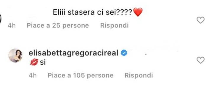 GF Vip annuncio Elisabetta