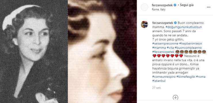 Attraverso un commovente post Ferzan Ozpeteck ha manifestato il dolore per la perdita subita