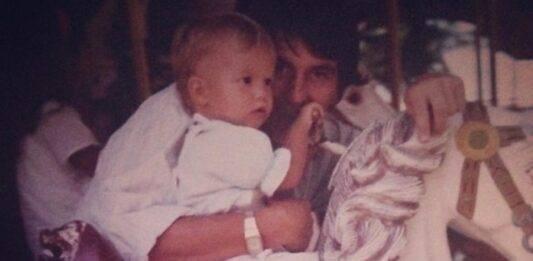 Chi è questa splendida bambina insieme al papà? E' una modella e attrice molto famosa
