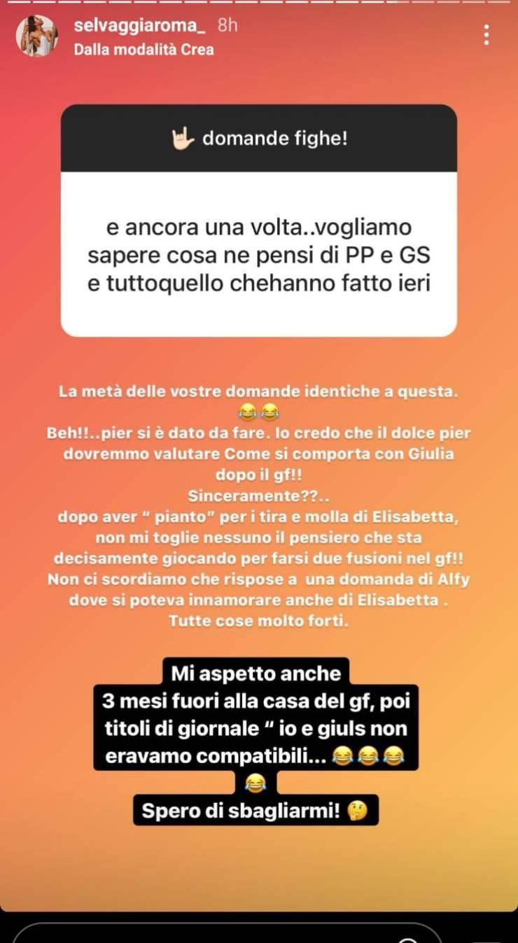 GF Vip, spunta un messaggio decisamente atteso di Selvaggia Roma