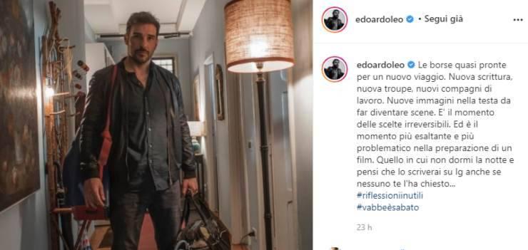 Edoardo Leo, incredibile annuncio a sorpresa: l'ha appena svelato, inaspettatamente sul suo profilo instagram, cosa bolle in pentola?