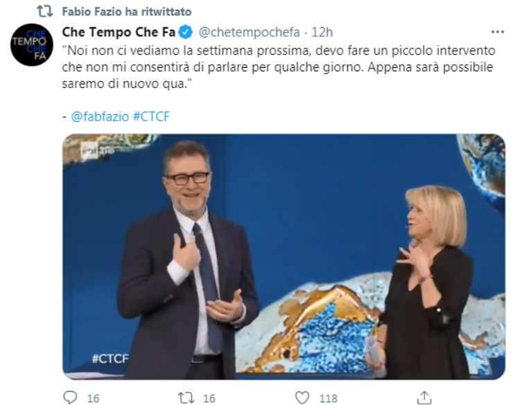 Fabio Fazio Che Tempo che Fa