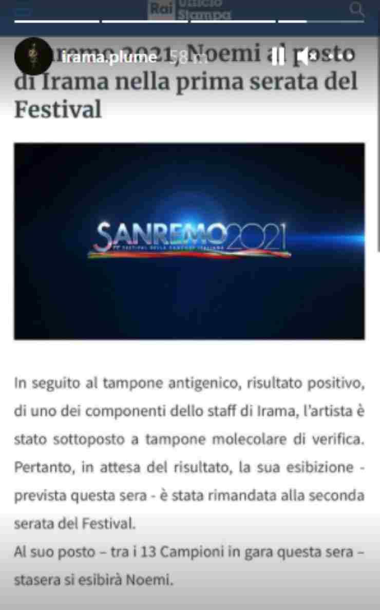 Sanremo 2021 Irama staff