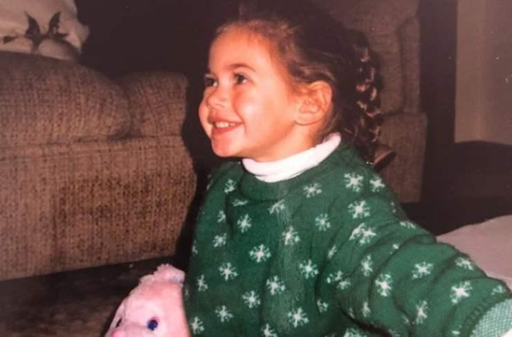 Melissa Satta da piccolissima