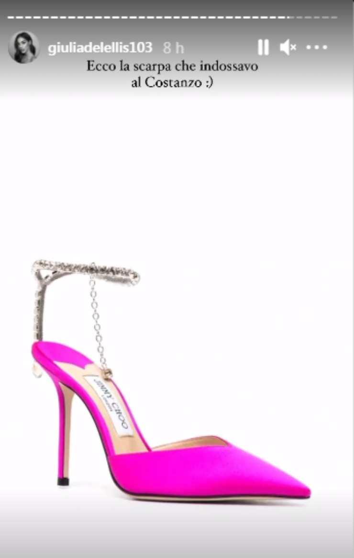 De Lellis prezzo scarpe Maurizio Costanzo
