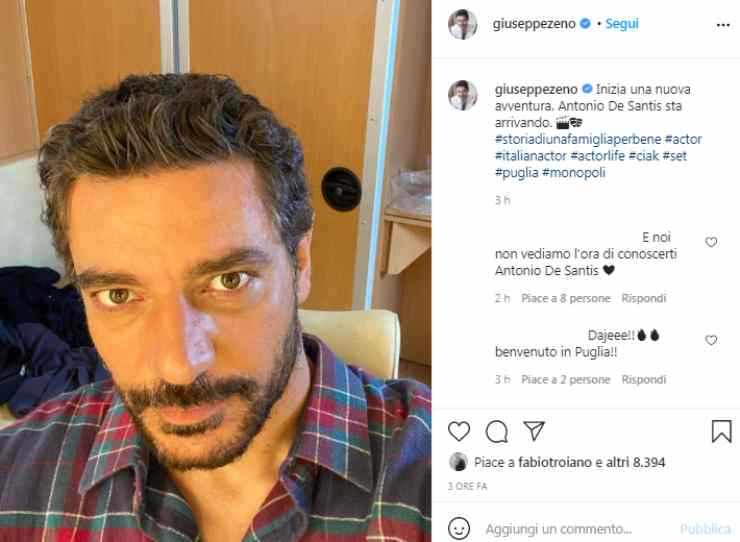 Giuseppe Zeno annuncio
