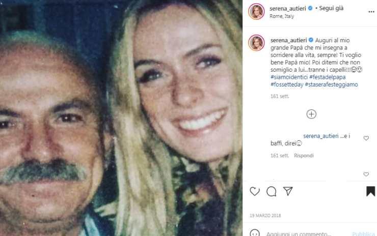 Serena Autieri papà
