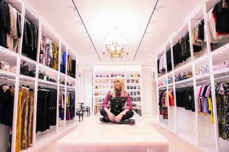 Donatella Versace casa