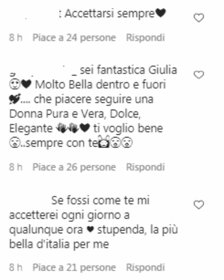 Giulia De Lellis gesto