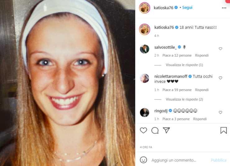 Katia Follesa a 18 anni