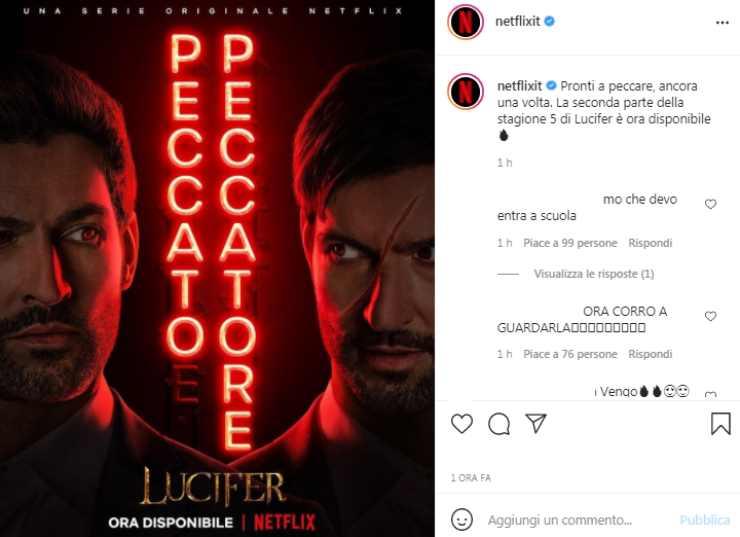 Lucifer 5 annuncio