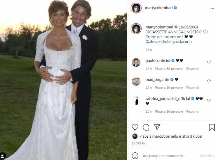 Martina Colombari Costacurta matrimonio