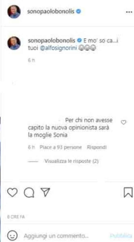 Paolo Bonolis commento