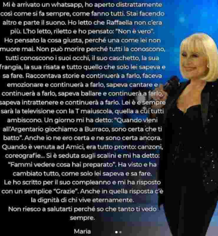 Raffaella Carrà Maria De Filippi