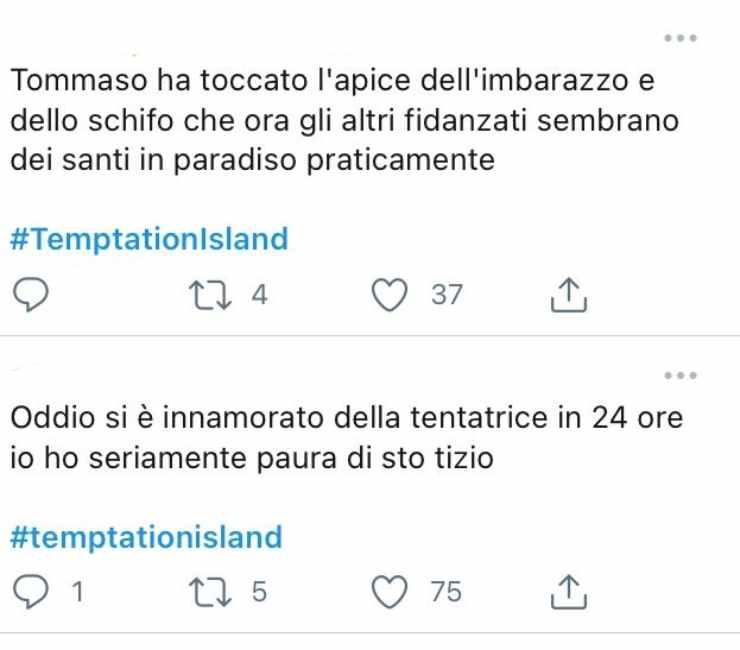 Temptation Island Tommaso Giulia