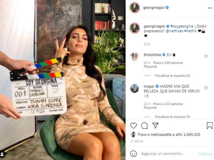 Georgina Rodriguez annuncio