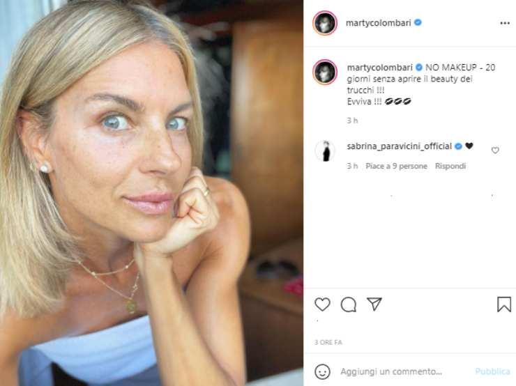 Martina Colombari senza trucco