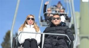 Francesco Totti e Ilary Blasi sempre più innamorati sulla neve - Foto