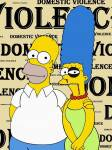 Homer Simpson & Marge, campagna contro violenza sulle donne di alexandro palumbo