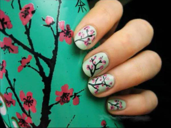 Nail art fiori di ciliegio Nail art tutorial: fiori di ciliegio   VIDEO
