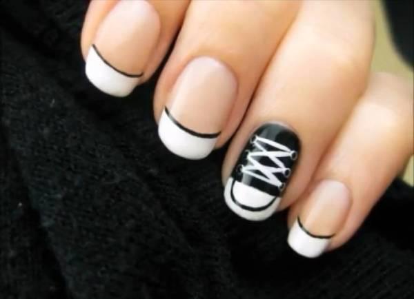 Nail art tutorial scarpe Converse Nail art fai da te tutorial: Scarpe Converse   VIDEO